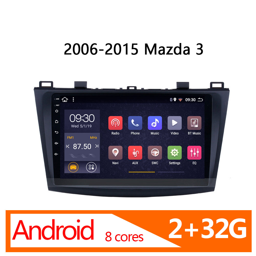 Auto-radio-player für <font><b>Mazda</b></font> <font><b>3</b></font> 2006-2015 1 din <font><b>android</b></font> 2G 32G 8 core-multimedia für auto coche player atoto stereo autoradio Video image