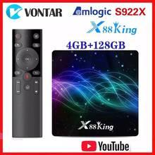 Amlogic S922X TV Box Android 9.0 X88 King 4GB RAM 128G ROM Media Player Dual Wifi BT5.0 1000M 4K 60fps USB3.0 Youtube