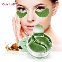 OMY DAME 60PCS Algen Extrakt Augenklappe Maske Kollagen Gegen Falten Augenringe Pflege Augen Taschen Pads Ageless Hydrogel