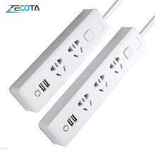 Meerdere Power Strip 2/3 Way Socket Met Usb Au Plug Outlets Elektrische 2M Verlengsnoer Charger Travel Adapter Voor home Office