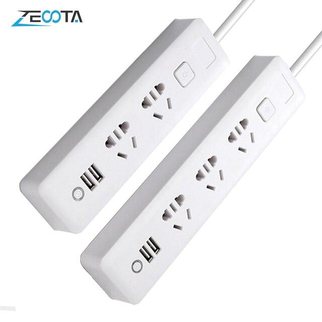 Multiprise multiprise prise 2/3 voies avec prise USB AU prises électrique 2m rallonge chargeur adaptateur de voyage pour bureau à domicile