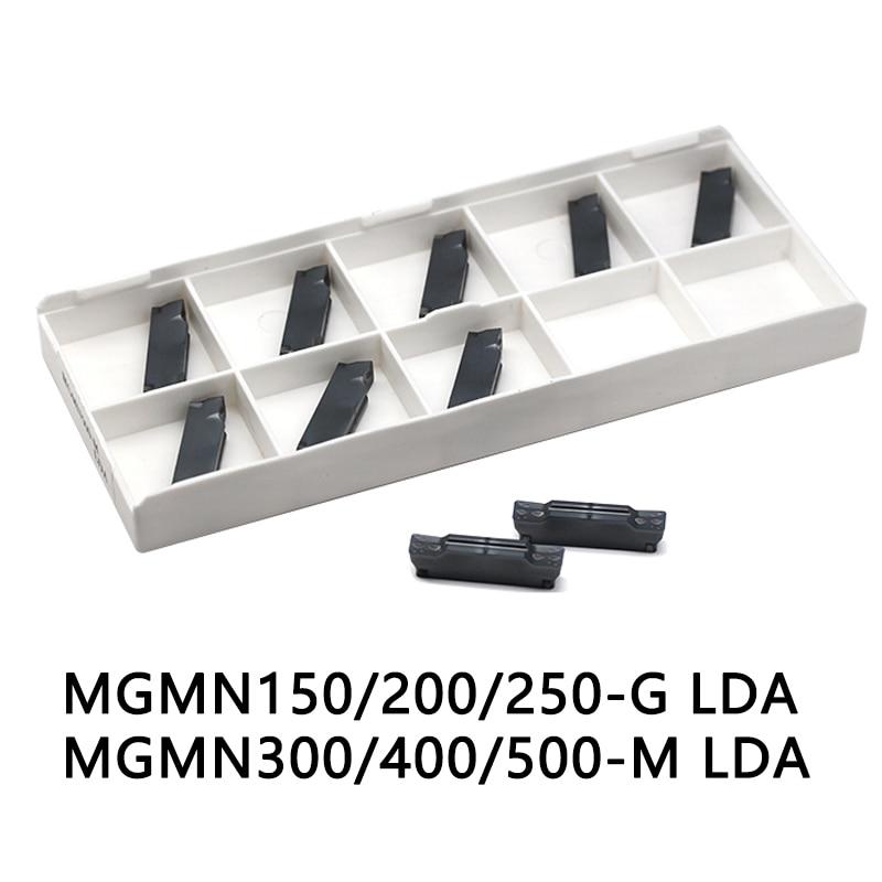 10pcs MGMN200-G LDA carbide inserts CVD coating to cut steel stainless steel and cast iron MGMN300-M LDA MGMN400-M DESKAR brand