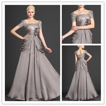 MANSA 2015 Elegant Cap Sleeves Mother Evening Dress Modest G