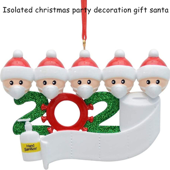 Hot Sale Personalized Christmas Ornaments 2020 Quarantine Survivor Family with Masks Hand Sanitized Toilet Paper image