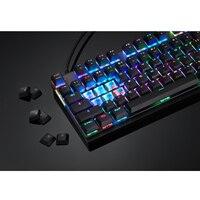 87 K82 Wired Mechanical Keyboard RGB Backlit Glowing Gaming Keyboards 87 Keys Black Pink Multi-Function USA Keyboard (4)