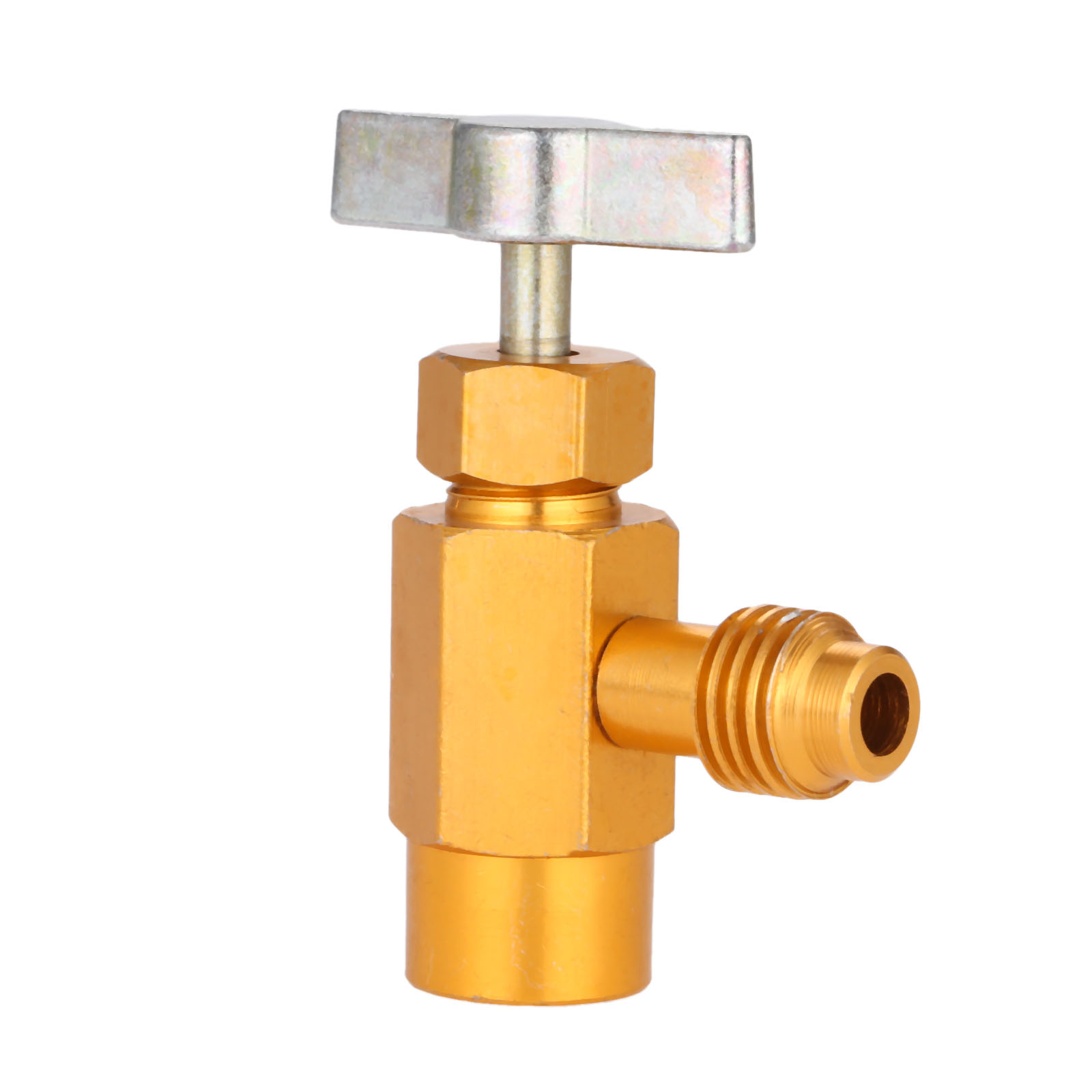 "New R-134a R-134 AC Brass Metal CAN TAP Dispensing Valve 1//2/"" ACME Golden"