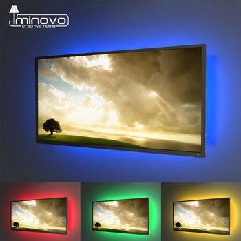 Elastyczna taśma LED USB DC 5V 50 cm 1 m 2 m 3 m 4 m 5 m mini 3 i 24 przyciski dekoracja biurka ekranu telewizora oświetlenie tyłu TV SMD 2835 tanie i dobre opinie iminovo CN (pochodzenie) Salon 10 000 hrs Zawsze na Taśmy 7 36 w m 7 36W m Edison 2700K-6900K Smd2835 60LEDs M RGB Warm White Cold White Red Green Blue