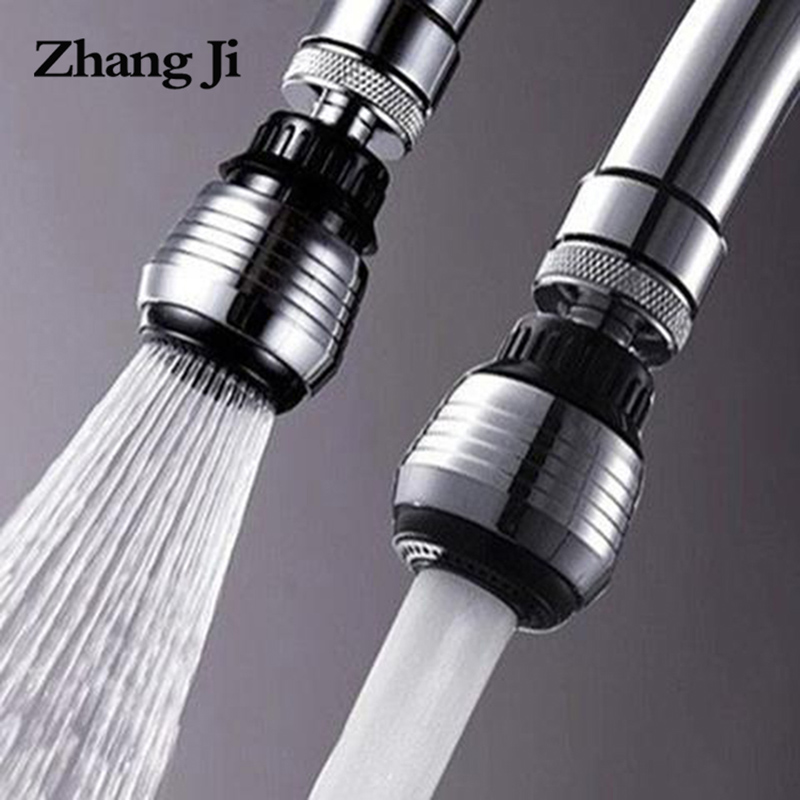 ZhangJi 360 Degree Kitchen Faucet Aerator 2 Modes adjustable Water Filter Diffuser Water Saving Nozzle Faucet Connector Shower(China)