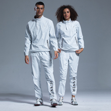 Sauna Suit Pullover Sportswear Clothing-Set Sweating Couple Fitness-Weight-Loss Running