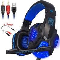 PC780 Gaming Headset Kopfhörer Wired Gamer Kopfhörer Stereo Sound Headsets mit Mic LED-licht für Computer PC PS4 Gamer headset