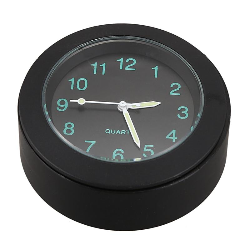 Motorcycle Clock Watch Aluminum Cnc Motorbike Handlebar Mount Clock With Buckle Black Waterproof Universal