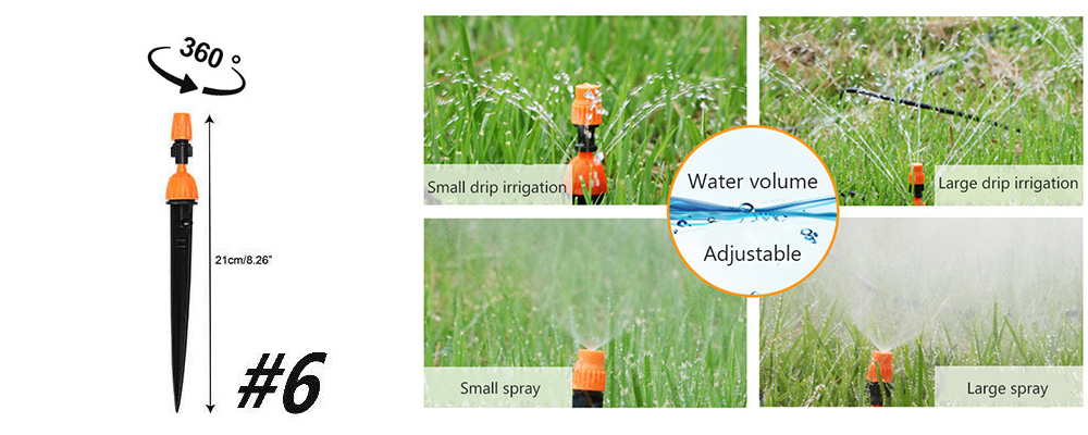 Hf2968cfa561e476cb97c8a76ebf8f197X Garden Drip irrigation Hose Connector Spray Sprinkler Automatic Irrigation Garden Irrigation System Autowatering