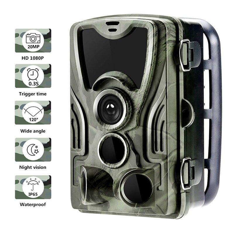 Фотоловушка HC801A с ночным видением, камера для охоты и наблюдения за дикой природой, 20 МП