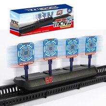 Cible électrique bricolage haute précision marquant la cible électrique de réinitialisation automatique pour pistolet Nerf accessoires jouets pour jouet de sport amusant en plein air