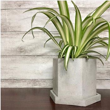 2 pçs/set diy moldes de Concreto molde vaso de flores projeto hexágono para o concreto e cimento e argila epóxi caneta titular caixa de armazenamento do molde