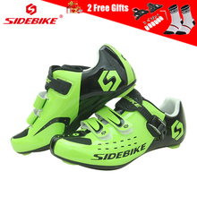 SIDEBIKE Self-lock Men's Bike Shoes Road Cycling Shoes Breathable Non-slip Nylon Sole Triathlon MTB Mountain Bicycle Shoes Green sidebike mtb shoes mountain road cycling shoes men women breathable zapatillas ciclismo non slip spd bicycle shoes bike shoes