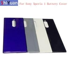 Oryginalna obudowa tylnej obudowy obudowa baterii z naklejką termiczną do Sony Xperia 1 XZ4 tylna pokrywa szklana z Logo