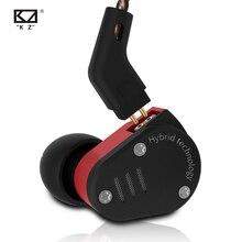 Kz zsa metal no fone de ouvido armadura e híbrido dinâmico em monitores esporte fone de ouvido fones alta fidelidade graves cancelamento ruído