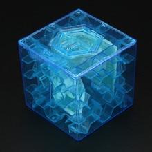 3D куб головоломка деньги Лабиринт банк экономия монет Коллекция Чехол Коробка забавная игра в мозги игрушки для детей умный улучшить способность