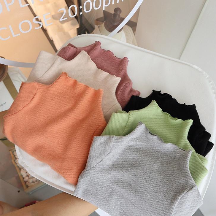 2020 Autumn New Arrival Girls Korean Design T Shirt Kids Long Sleeve Tops 1