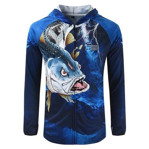 nova primavera roupas de pesca masculina antiuv camisas de pesca com capuz verao respiravel roupas