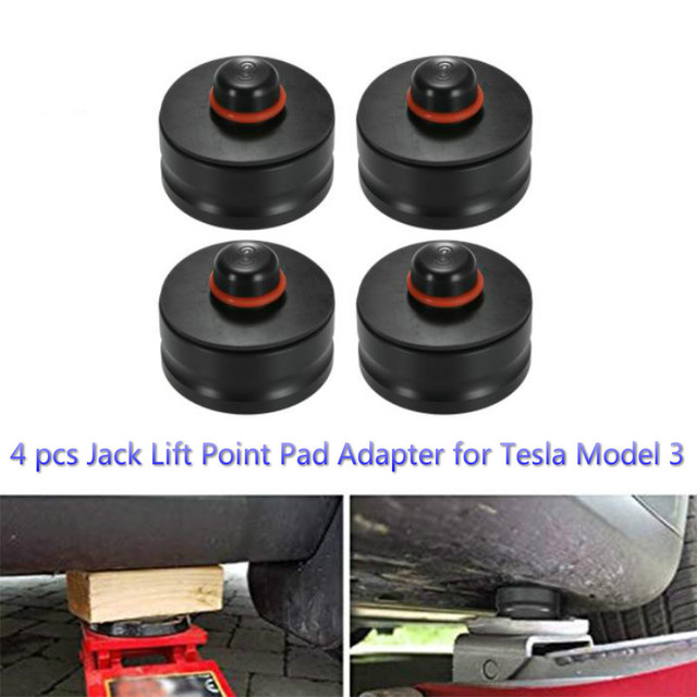 BAFIRE 4 pcs Rubber Jack Lift Point Pad AdapterFor Tesla Model 3 Jack Pad Tool Chassis Jack and Lifting Equipment Accessories