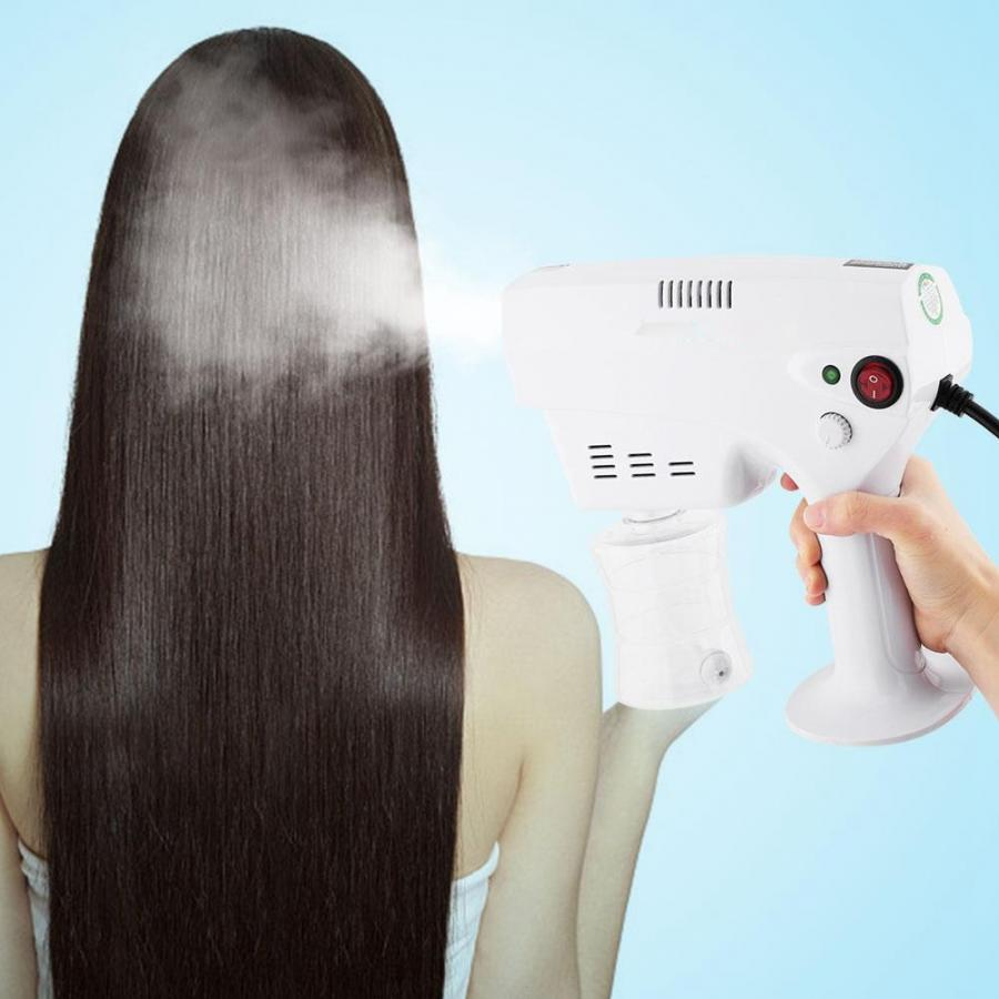 Image 3 - Blue Light Nano Anion Hair Steamer Sprayer Oil Treatment for Home Beauty EU Plug 220 240V Hair Care Machine Barber Accessories-in Styling Accessories from Beauty & Health