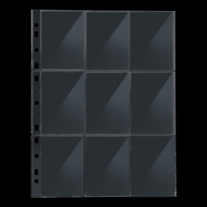 Trading Card Storage (100-Sheet),9-Pocket Baseball Card Sleeves Clear Page Protector Album Pages For 3 Ring Binder