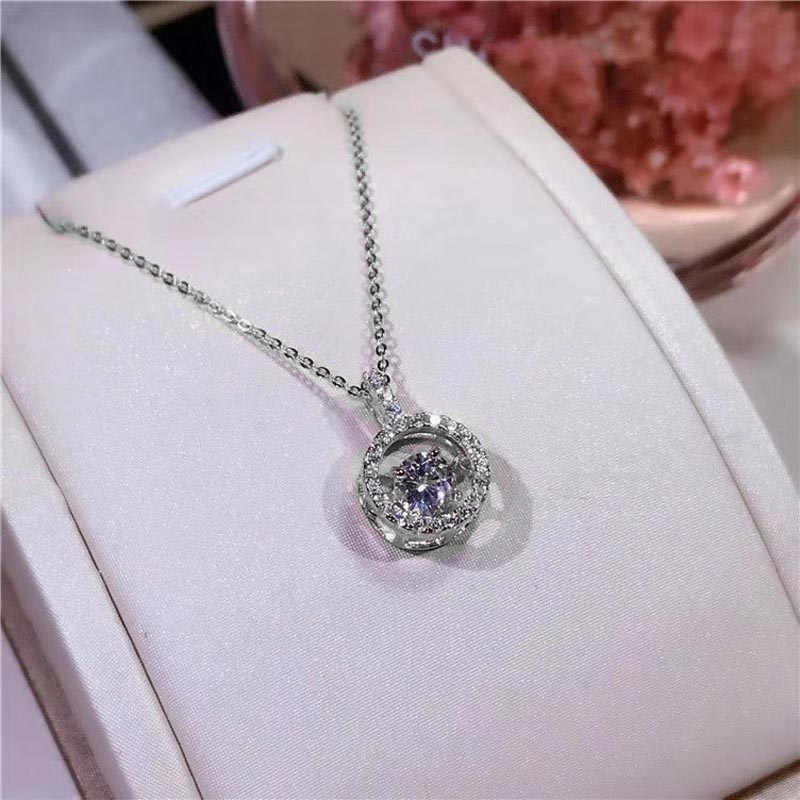 New Korean fashion trend beating heart pendant romantic heart clavicle necklace female women high-end luxury brand jewelry
