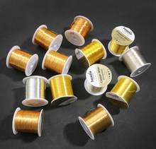 Rollo de alambre grande de 0,2/0,3/0,4/0,5/0,6/0,8/1MM, cable de cobre para joyería, abalorios, manualidades DIY, accesorios de material de cuerda