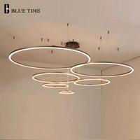 Modern Pendant Lights Hang Lamp Living Room Foyer Illumination Ring Lighting parlor hall pendant light rings pendant light