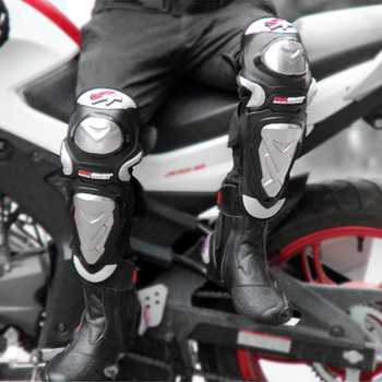 Hot Pro-biker 4Pcs Breathable Waterproof Elastic Knee Pads+Elbow Alloy Steel Shin Guards Protector Motorcycle Protective Knee Pa