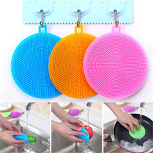 Silicone Universal Brush Scrubber Gel Wash Bowl Brushes Multipurpose Antibacterial Smart Sponge Cleaning Dish Kitchen Tools