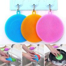 Silicone Universele Borstel Scrubber Gel Wassen Bowl Borstels Multipurpose Antibacteriële Smart Spons Schotel Keuken Gereedschap