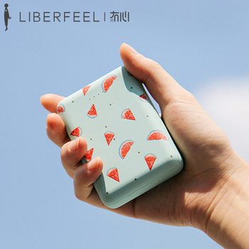 Liberfeel Maoxin mini power bank 10000mAh dual USB output portable cute pattern with lollipop micro cable