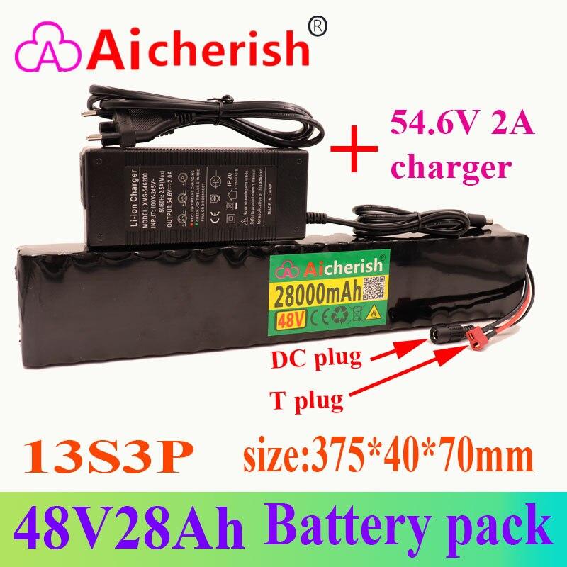 18650 li-ion 13s3p 48v 28a 780w bateria