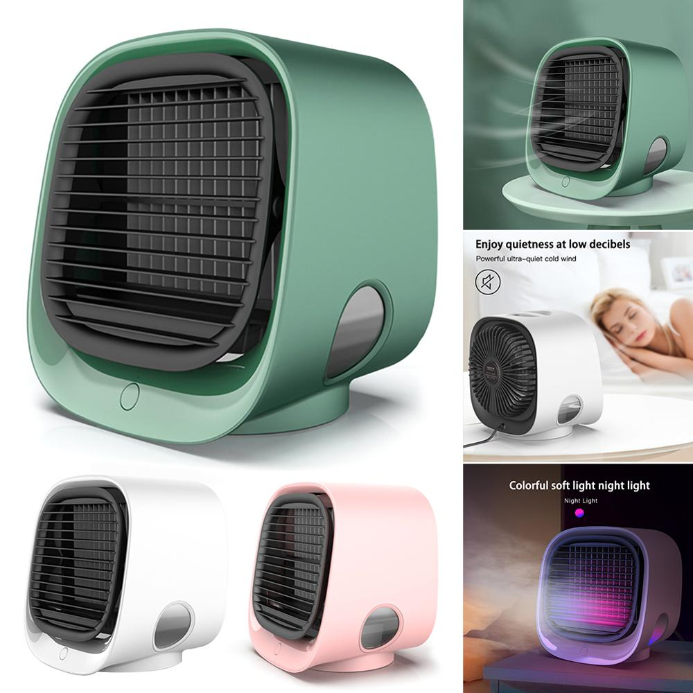 Air Conditioner Fan Purifier Humidifier Desktop Fan 3-speed Mini Portable Air Cooler Ultra-quiet Humidification Mist Fan