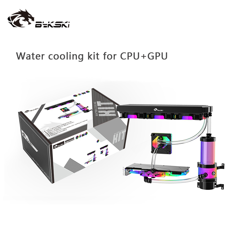 Bykski Liquid Cooler Kit for INTEL AMD CPU / Video Card Cooling / Hose cooling Bundle 360mm Copper Radiator / AURA RGB Support