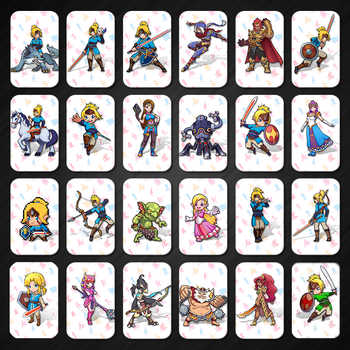 24PCS Full Set Amiibo Card for The Legend of Zelda Breath of the Wild Full Set - DISCOUNT ITEM  7% OFF All Category