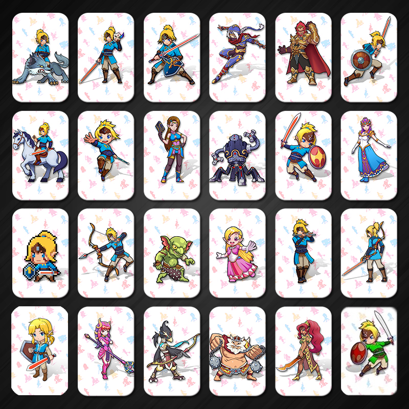24PCS Full Set <font><b>Amiibo</b></font> <font><b>Card</b></font> for The Legend of <font><b>Zelda</b></font> Breath of the Wild Full Set image