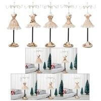 5Pcs 25 cm/10 inch High Elegant Jewelry Stand Holder Princess Skirt Bracelet Rings Hanger