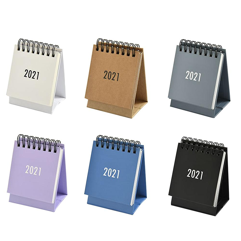 2021 Small Desk Calendar SImple Color Plan Book Mini Calendar Decoration