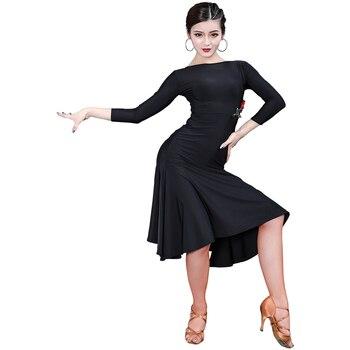Latin Dance Dress Women's Rose Print Dance Dress Competition Stage Wear Show Wear Tango Dress Party Ladies Dancing Clothes