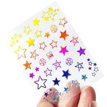 1 шт Красочные Звезды Дизайн ногтей переводные наклейки Переводные