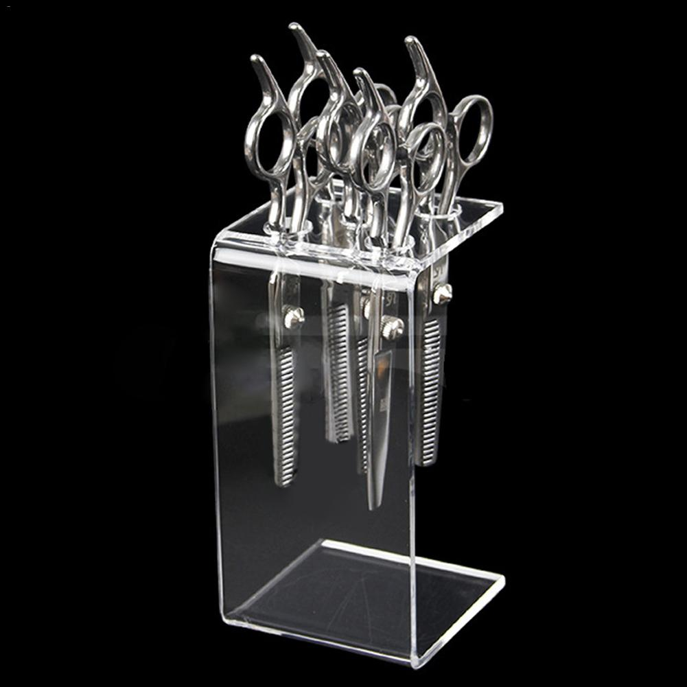 Scissors Holder Box,Professional Hairdressing Combs Clips Organizer Rack For Hair Stylist Acrylic Transparent