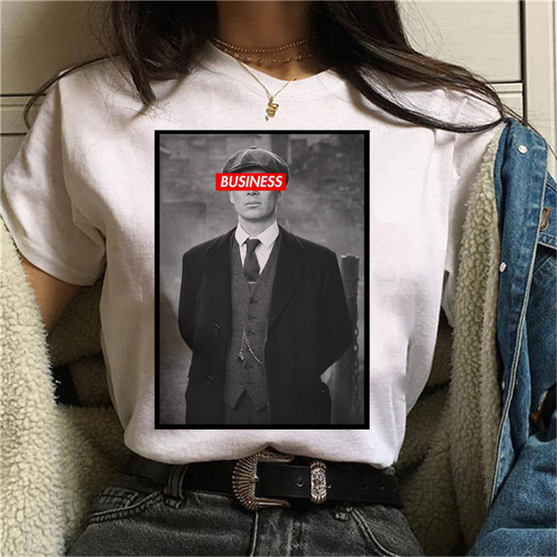 Maycaur Harajuku Peaky Blinder T Shirt Women 90s Ullzang Graphic T-shirt Funny Cartoon Female Tshirt Aesthetic Korean Top Tees