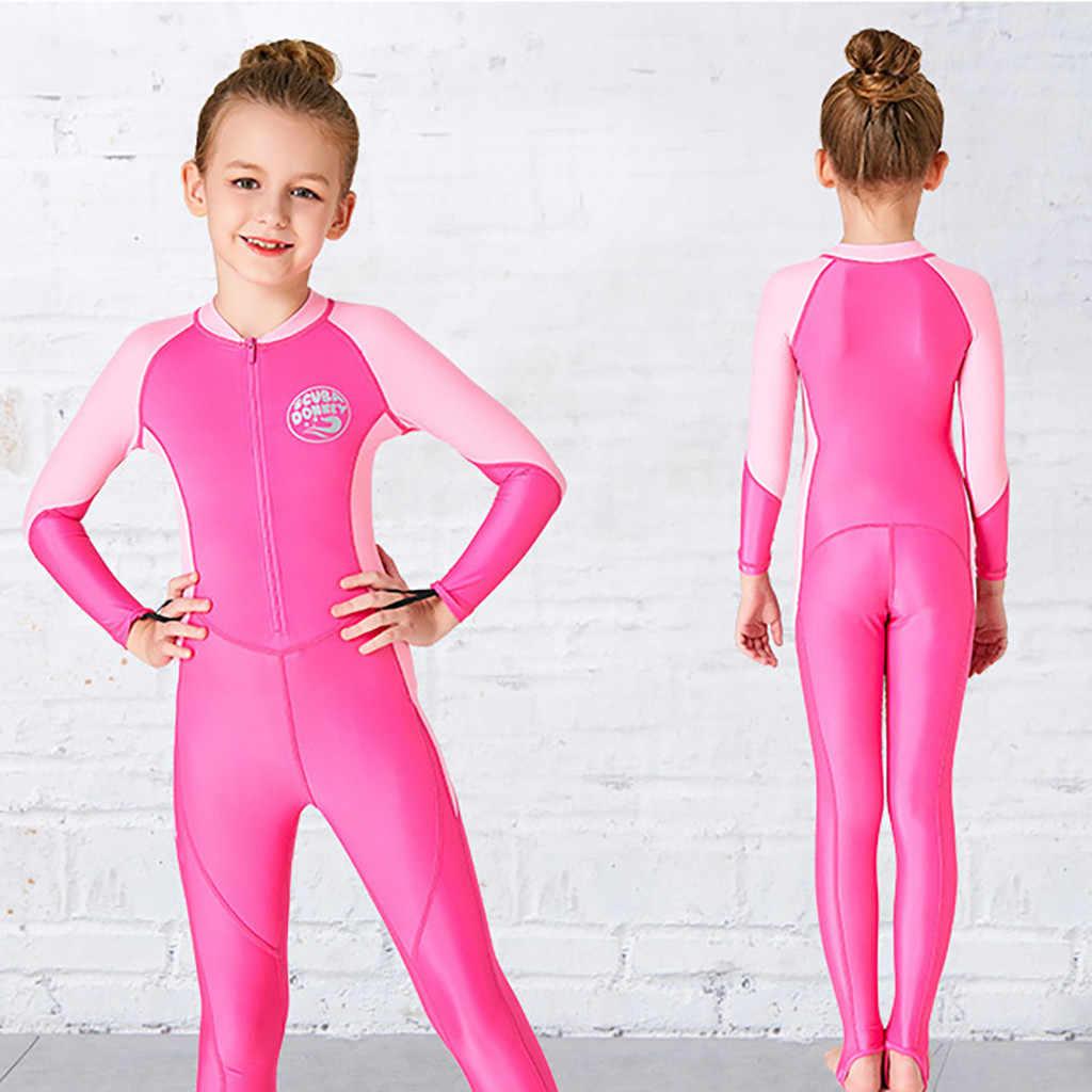 Çocuklar dalgıç kıyafeti Wetsuit çocuklar için erkek kız Çocuk Güneş Koruyucu Mayo Kısa Kollu Tek parça dalgıç kıyafeti Hızlı Kurutma