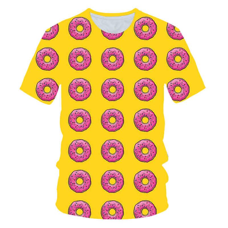 Baby Boys Girls Summer T-shirt Kids Cartoon Animal Donut Tops Tees T Shirt Tshirt Size  3 4 5 6 7 8 9 10 Year Children Clothing