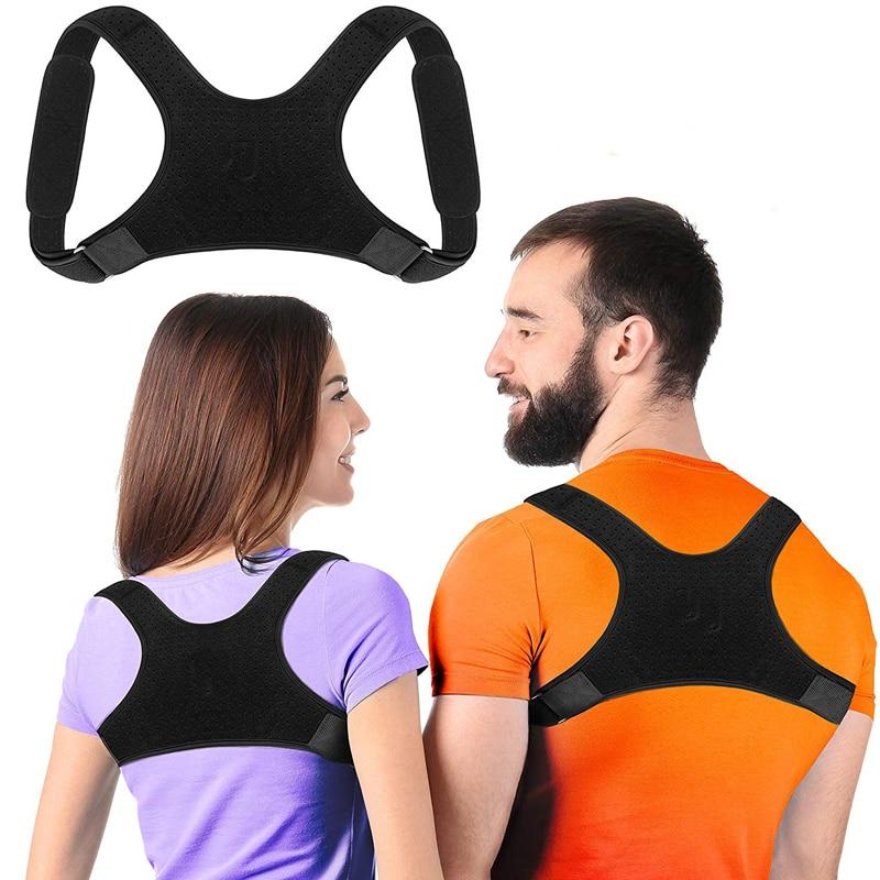 Brace Support Belt Adjustable Back Posture Corrector Clavicle Spine Back Shoulder Lumbar Posture Correction For Adult Unisex