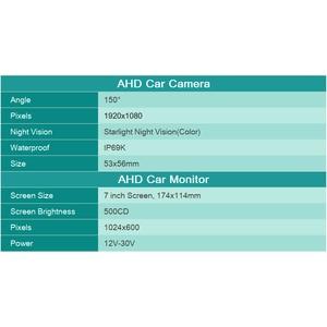 Image 4 - GreenYi AHD Запись DVR 7 дюймов Автомобильный монитор с 1920*1080P камера заднего вида для грузовика автобуса поддержка SD карты